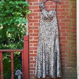 EUC🌻Jump Apparel Romantic Leopard Print Dress